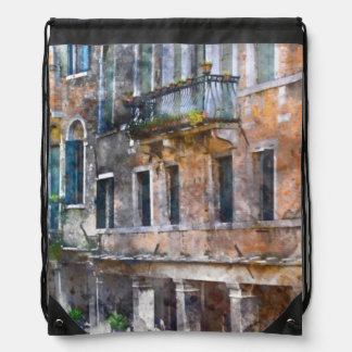 Venice Italy Buildings Drawstring Bag