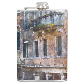 Venice Italy Buildings Hip Flask
