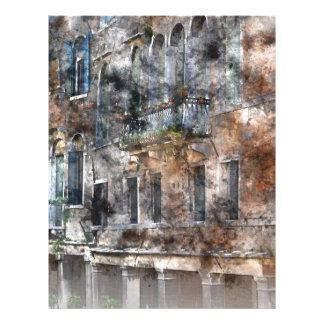 Venice Italy Buildings Letterhead