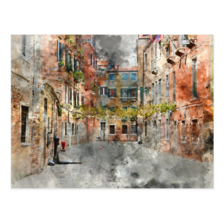 Venice Italy Buildings Postcard