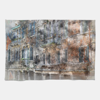 Venice Italy Buildings Towels