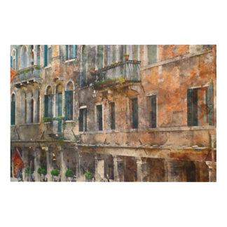 Venice Italy Buildings Wood Wall Art