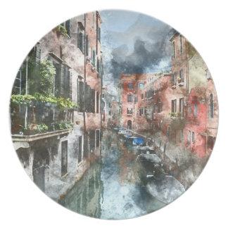 Venice Italy Canal Dinner Plate