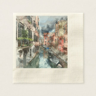 Venice Italy Canal Disposable Napkins