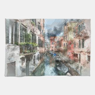 Venice Italy Canal Hand Towel