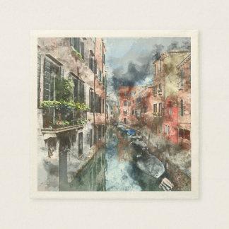 Venice Italy Canal Paper Napkin