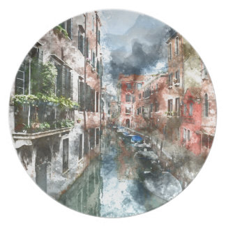 Venice Italy Canal Party Plates