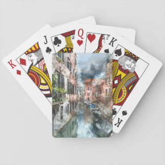 Venice Italy Canal Playing Cards