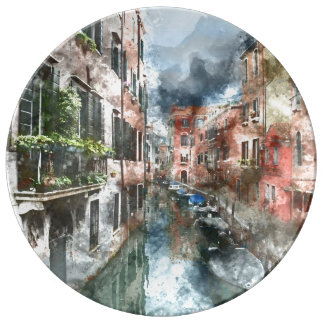 Venice Italy Canal Porcelain Plate
