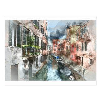 Venice Italy Canal Postcard