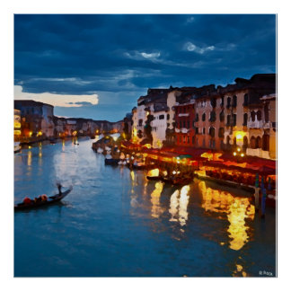 Venice_Italy_Canal Poster