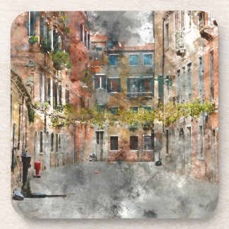 Venice Italy Colorful Buildings and Canals Drink Coasters