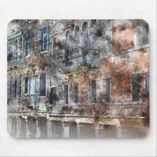 Venice Italy Colorful Buildings Mouse Pad