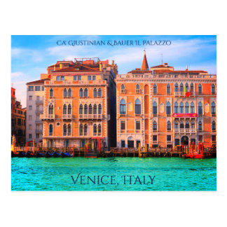 Venice, Italy - Colorful Picture Of Grand Canal Postcard