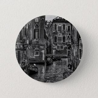 Venice italy gondola boat canal 2 inch round button