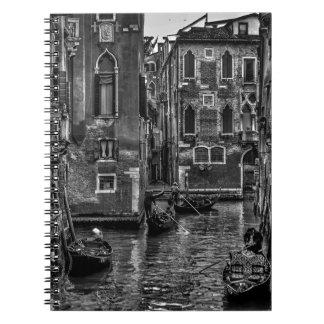 Venice italy gondola boat canal notebook