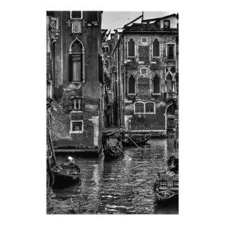 Venice italy gondola boat canal stationery
