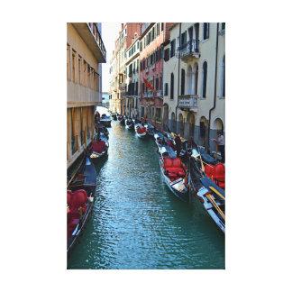 Venice Italy Gondola Canal Photo Canvas
