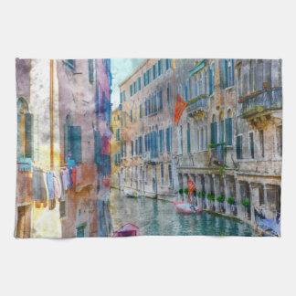 Venice Italy Gondola Grand Canal Kitchen Towels
