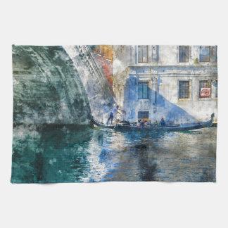 Venice Italy Gondola Grand Canal Towel