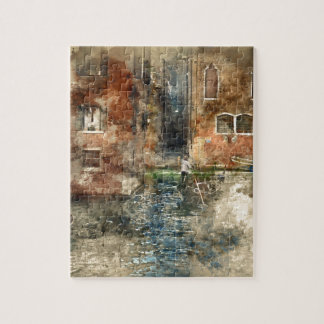 Venice Italy Gondola in the Canals Jigsaw Puzzle