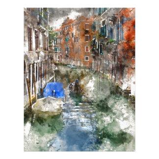 Venice Italy Gondola Letterhead Template
