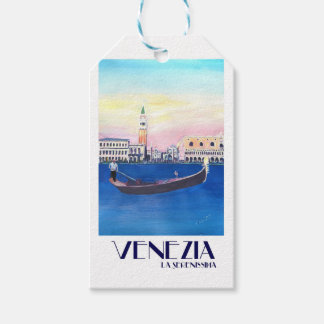Venice Italy Gondola on Grand Canal with San Marco Pack Of Gift Tags