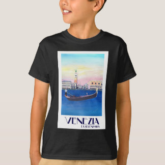 Venice Italy Gondola on Grand Canal with San Marco T-Shirt