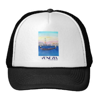 Venice Italy Gondola on Grand Canal with San Marco Trucker Hat