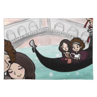 Venice Italy Gondola Ride Placemat