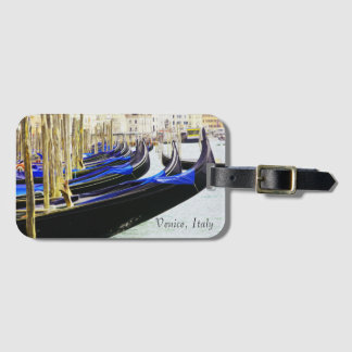 Venice, Italy Gondolas In A Row Luggage Tag