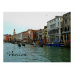 Venice, Italy Gondolas on the Grand Canal Poster
