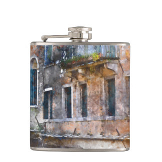 Venice Italy Historic Buildings Hip Flask