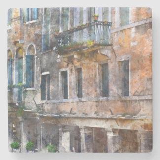Venice Italy Historic Buildings Stone Beverage Coaster