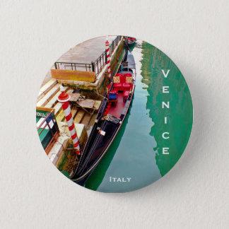 Venice, Italy (IT) - Gondola Station 2 Inch Round Button