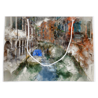 Venice Italy Large Gift Bag