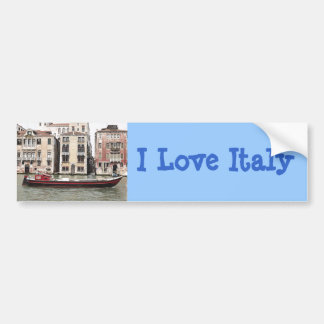 Venice Italy Photo of  Fishing Boat in Harbor Bumper Sticker