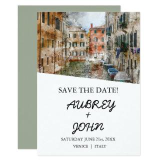 Venice Italy Save the Date Wedding Invitation