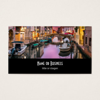 Venice, Italy Scenic Canal & Venetian Architecture Business Card