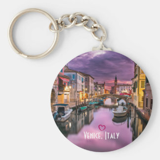 Venice, Italy Scenic Canal & Venetian Architecture Keychain