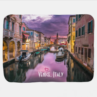 Venice, Italy Scenic Canal & Venetian Architecture Swaddle Blankets