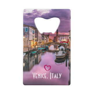 Venice, Italy Scenic Canal & Venetian Architecture Wallet Bottle Opener