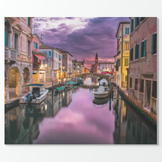 Venice, Italy Scenic Canal & Venetian Architecture Wrapping Paper