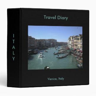 Venice Italy Travel Diary Binder