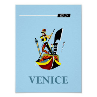 Venice, Italy travel poster