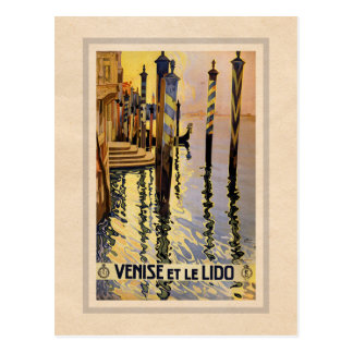 Venice, Italy - Vintage retro travel postcard