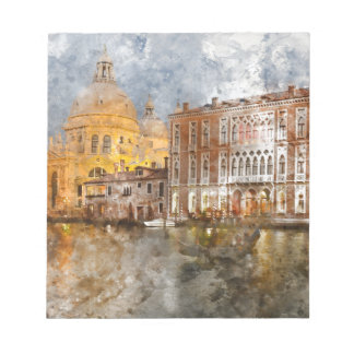 Venice Italy Watercolor Notepad