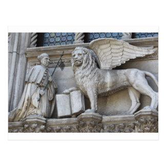Venice Lion postcard