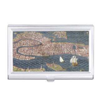 VENICE: MAP, 16TH CENTURY BUSINESS CARD HOLDERS