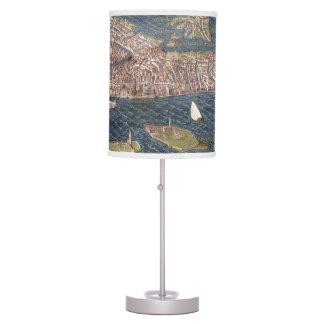 VENICE: MAP, 16TH CENTURY DESK LAMP